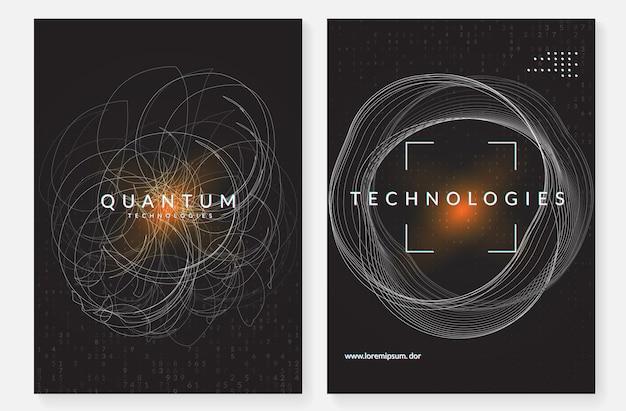 Set di sfondo tecnologico