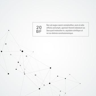 Sfondo di tecnologia con linea e punti collegati