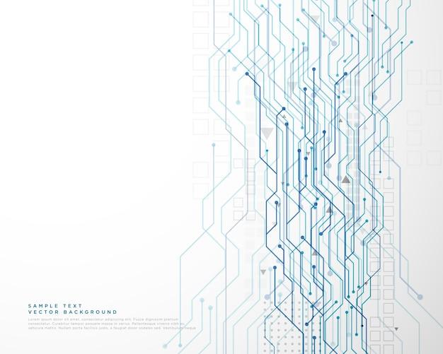 Sfondo della rete schema elettrico tecnologia