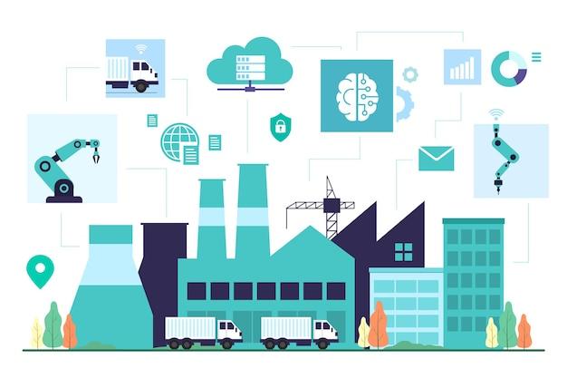 Controllo della tecnologia con illustrazione dell'analisi dei dati