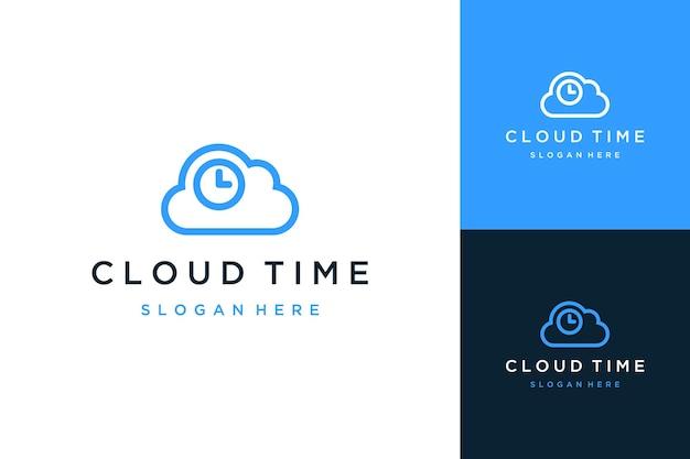 Logo di design tecnologico o cloud con ore