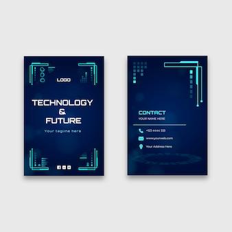 Biglietto da visita tecnologico fronte-retro