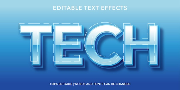 Effetto testo modificabile tecnologia