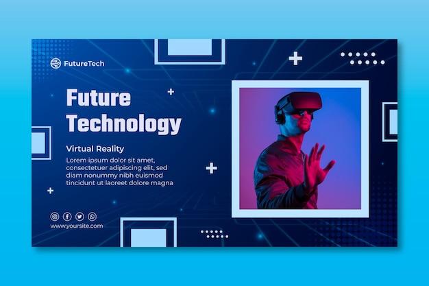 Tecnologia e futuro modello di banner