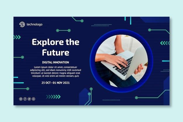 Tecnologia e bandiera del futuro