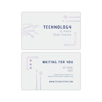 Tecnologia e futuro biglietto da visita orizzontale