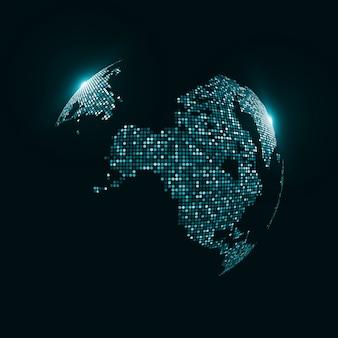 Priorità bassa del globo di tecnologia