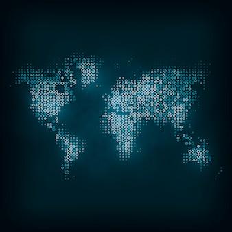 Immagine tecnologica del globo. l'illustrazione di concetto, concetto di arte