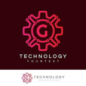 Tecnologia iniziale lettera g logo design