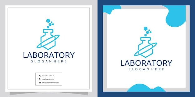 Logo del design della stanza del laboratorio tecnologico