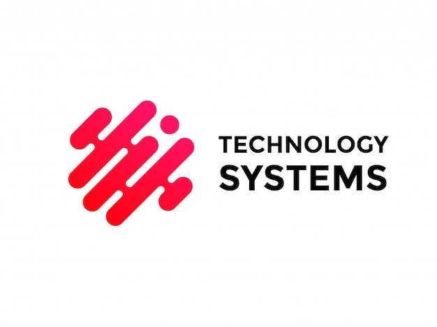 Logo della tecnologia design semplice e tecnologico