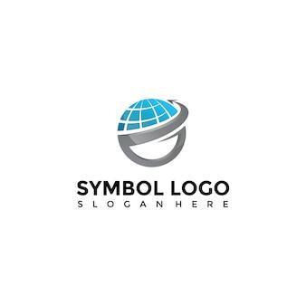 Modello di logo di tecnologia