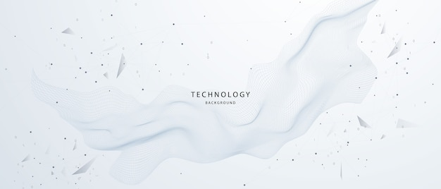 Tecnologia particle mist network cyber security.