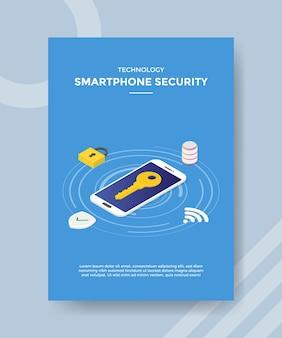Modello di volantino di sicurezza per smartphone di tecnologia