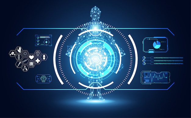 Tecnologia ui futuristica interfaccia hud umana