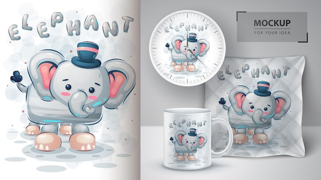 Poster e merchandising di dinosauri teddy