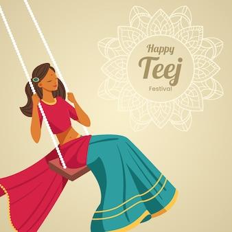 Illustrazione del festival di teej