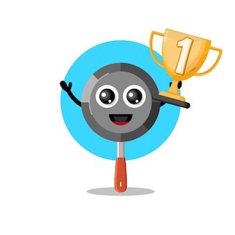 Trofeo in teflon simpatico personaggio mascotte