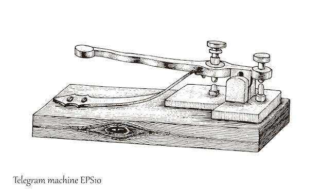 Telegrafo disegno a mano stile vintage