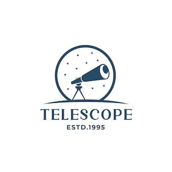 Logo del telescopio con la siluetta del logo delle stelle moderna