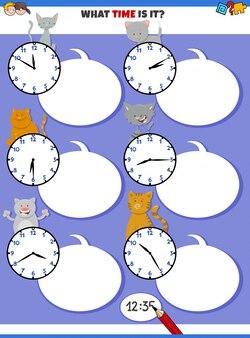 Raccontare tempo educativo con personaggi di gatti