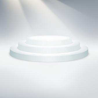Temlate di podio bianco.