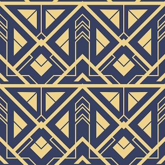 Modello astratto art deco blu cs6