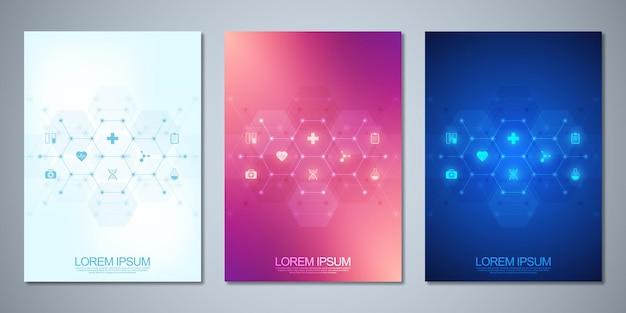 Modello di brochure o layout di pagina del libro di copertina flyer design