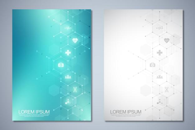 Brochure modello o copertina del libro