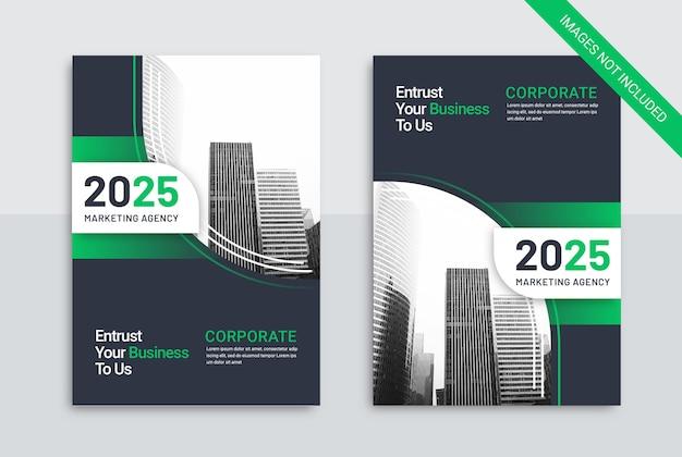 Modello di copertina del libro di affari agenzia di marketing