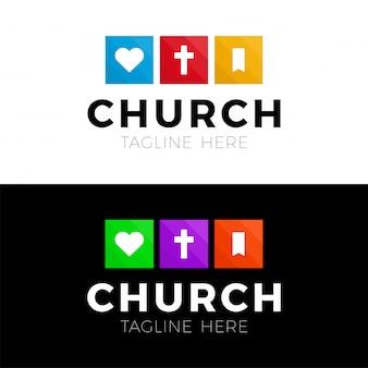 Modello di logo cristiano modello