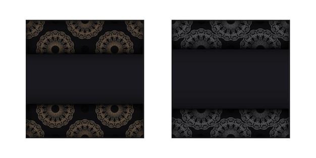 Modello volantino di congratulazioni colore nero con motivo mandala