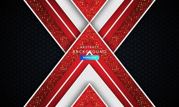 Modello banner aziendale concetto rosso nero grigio e bianco sfondo a contrasto. elegante concept design