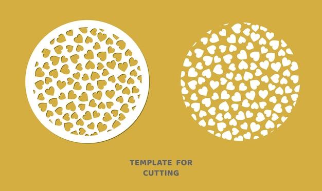 Modello per taglio laser, intaglio del legno, taglio della carta. motivo circolare per il taglio. stencil di vettore del pannello decorativo.