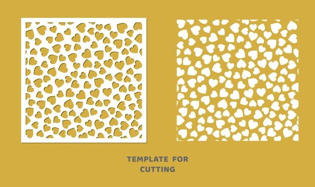 Modello per taglio laser, intaglio del legno, taglio della carta. motivo quadrato per il taglio. stencil di vettore del pannello decorativo.
