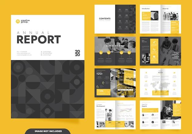 Progettazione di layout modello con copertina per profilo aziendale e brochure