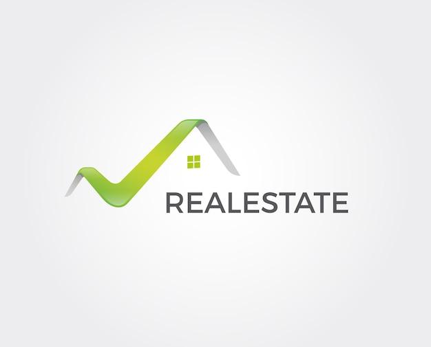 Logo del modello per residenziale, edilizia aziendale.