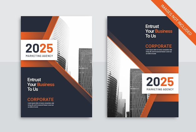 Modello di copertina del libro di copertina di un'agenzia di marketing