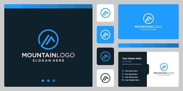 Logo di vettore di modello montagne. logotipo per azienda aziendale e creativa.