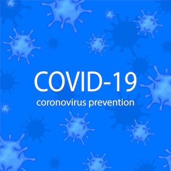 Modello per l'illustrazione del nuovo focolaio di coronavirus 2019-ncov. Vettore Premium