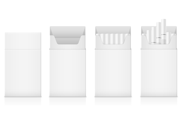 Pacchetto di sigarette modello con filtro bianco