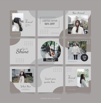 Modello social media fashion women puzzle post