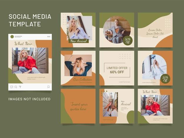 Modello social media puzzle fashion women post
