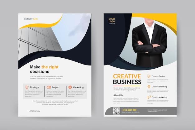 Modello di disegno vettoriale per brochure e flyer