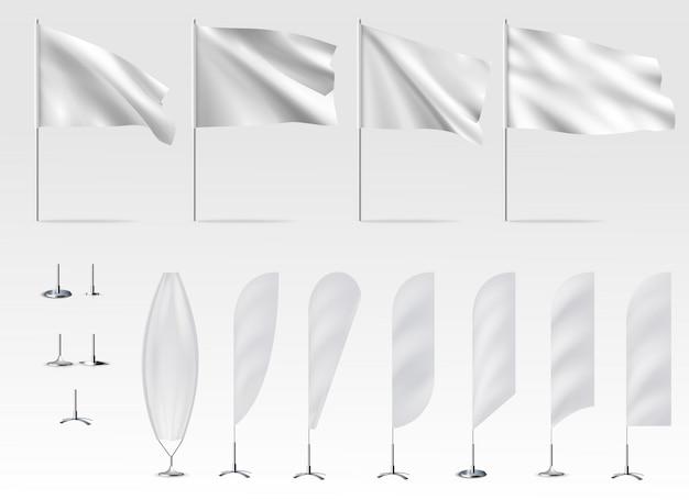 Modello di bandiere bianche