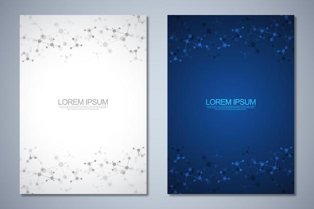 Modelli brochure o copertina del libro layout di pagina flyer design