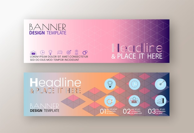 Modelli di banner web design moderno flyer