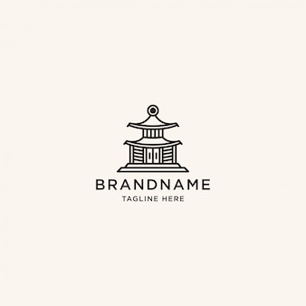 Modello di progettazione di logo di tempio