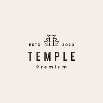 Illustrazione di icona logo vintage tempio