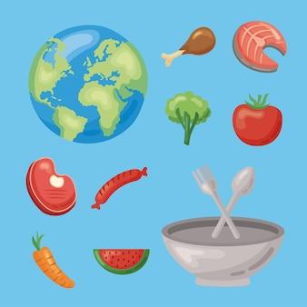 Dieci icone del cibo sano